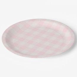 Pink Gingham Paper Plate Pink Gingham Paper Plate  sc 1 st  Zazzle & Baby Pink Gingham Plates | Zazzle