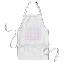 Pink Gingham Pattern Adult Apron
