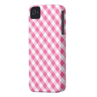 Pink Gingham Pattern iPhone 4 Cases