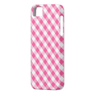 Pink Gingham Pattern iPhone SE/5/5s Case