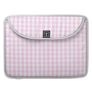 Pink Gingham Pattern MacBook Pro Sleeve