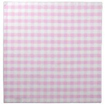 Pink Gingham Pattern Napkin