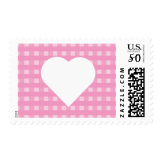 Pink Gingham Postage