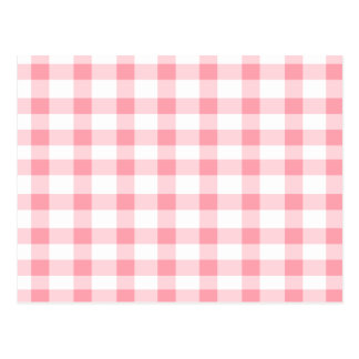 Pink Gingham Post Card