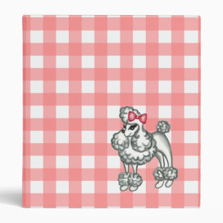 Pink Gingham Retro Binder
