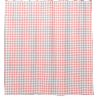 Pink Gingham Shower Curtain