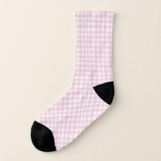 Pink Gingham Socks