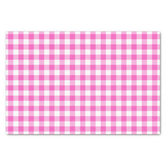 Pink Gingham Tissue Paper