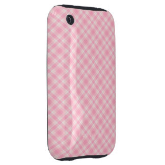 Pink Gingham Tough iPhone 3 Case