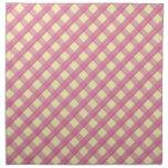 Pink Gingham Vintage Pattern Cloth Napkins