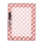 Pink Gingham Vintage Pattern Dry Erase Boards