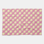 Pink Gingham Vintage Pattern Hand Towels
