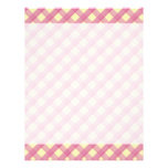 Pink Gingham Vintage Pattern Personalized Letterhead