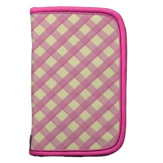 Pink Gingham Vintage Pattern Planner