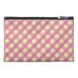 Pink Gingham Vintage Pattern Travel Accessory Bag