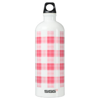 Pink Gingham Water Bottle