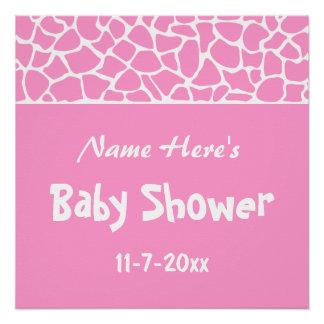 Pink Giraffe Baby Shower Perfect Poster