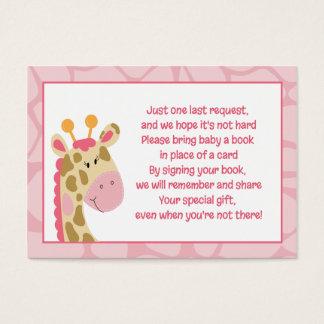 Pink Giraffe Girl Enclosure Book Request Cards