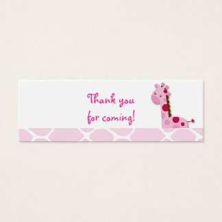 Pink Giraffe Girl Favor Gift Tags