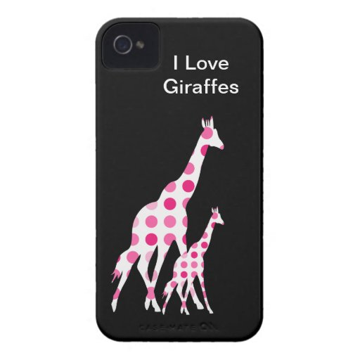 Pink Giraffe iPhone 4 Cases