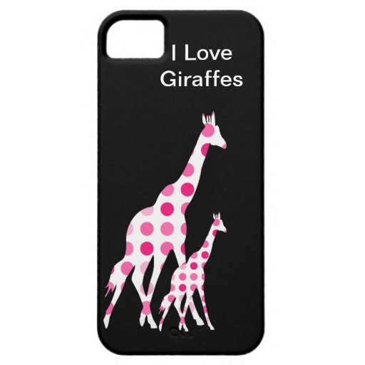 Pink Giraffe iPhone 5 Cases