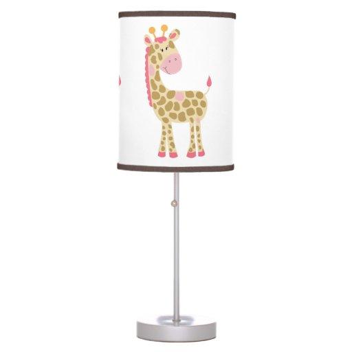 Pink Giraffe Lamp
