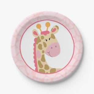 Pink Giraffe Paper Plate  sc 1 st  Zazzle & Giraffe Plates   Zazzle