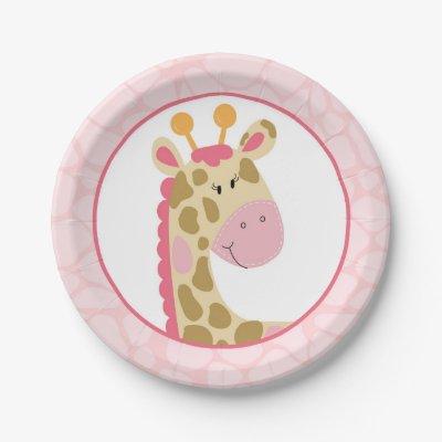 sc 1 st  Zazzle & Stylish Brown Giraffe Print Monogram and Name Paper Plate | Zazzle.com