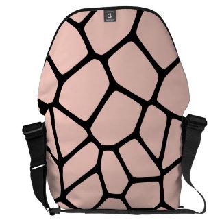 Pink Giraffe Pattern Courier Bag
