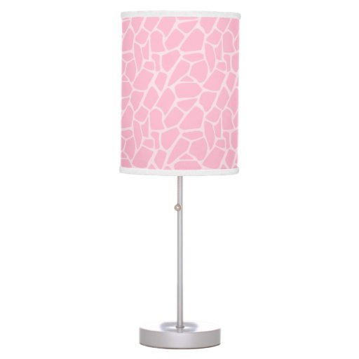 Pink Giraffe Pattern Print Girl Jungle Jill Lamp