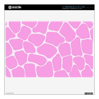 "Pink Giraffe Print 11"" MacBook Air Skin"