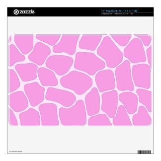 "Pink Giraffe Print 11"" MacBook Air Skin"