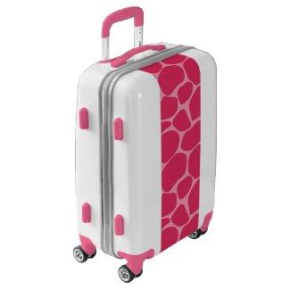 Pink Giraffe Print Pattern Luggage