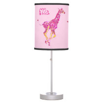pink giraffe running table lamp