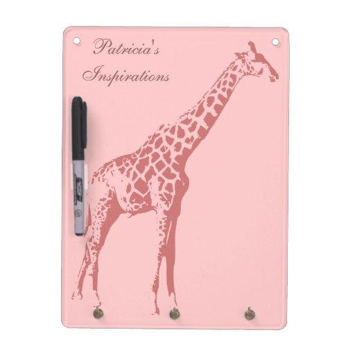 Pink Giraffe Sketch Dry Erase Board