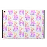 Pink Giraffes iPad Air Case with No Kickstand
