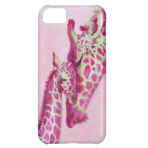 pink giraffes iphone cover for iPhone 5C