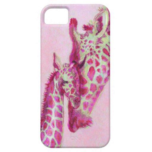 pink giraffes iphone iPhone 5 case