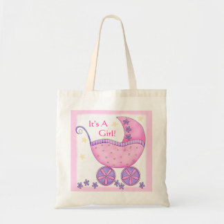 Pink Girl Baby Buggy Carriage Customized Canvas Bag