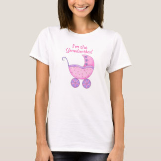 "Pink Girl Baby Buggy ""I'm the Grandmother"" T-Shirt"