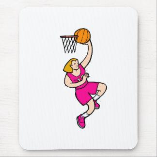 Pink Girl Basketball Mouse Pad