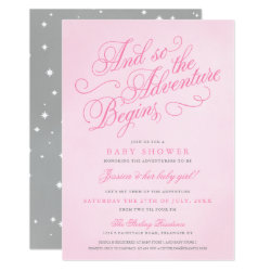 Pink Girl Fairytale Adventure Shower Invitations