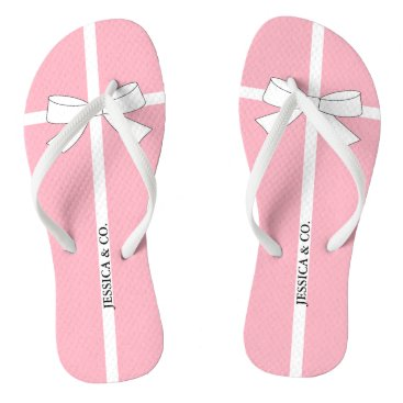 McTiffany Tiffany Aqua Pink Girl Party Celebration Flip Flops