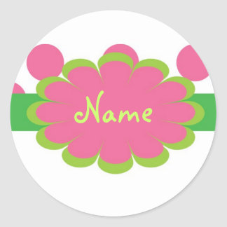 Pink Girl Personalized Gift Sticker