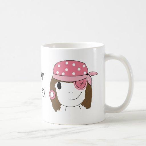 Pink Girl Pirate Classic White Coffee Mug