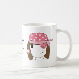 Pink Girl Pirate Coffee Mug
