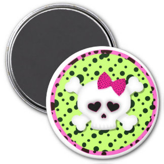 Pink Girl Skull Magnets Locker Magnet File Cabinet