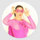 Pink Girl Sticker