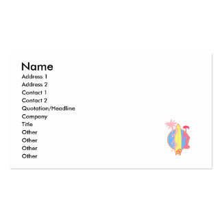 Pink Girl Surf logo Double-Sided Standard Business Cards (Pack Of 100)