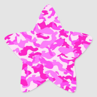PINK GIRLIE CAMO STAR STICKER